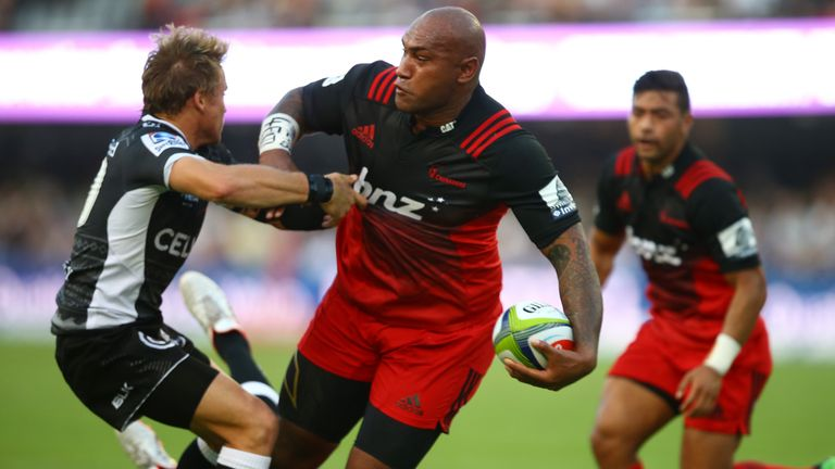 Crusaders wing Nemani Nadolo was in devastating form against the Sharks