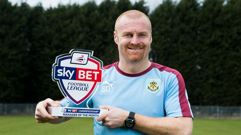 Sean Dyche oversaw Burnley's return to the Premier League