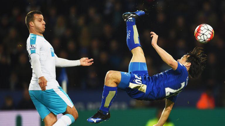 Okazaki's stunning overhead kick sealed victory over Newcastle United in March