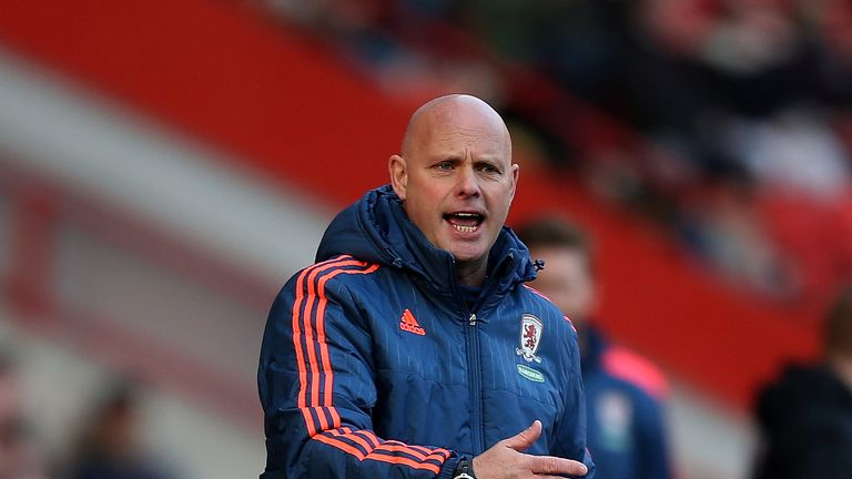Steve Agnew took Middlesbrough's team at Charlton in Karanka's absence
