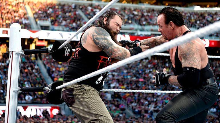 The Undertaker saw off a spirited Bray Wyatt in California