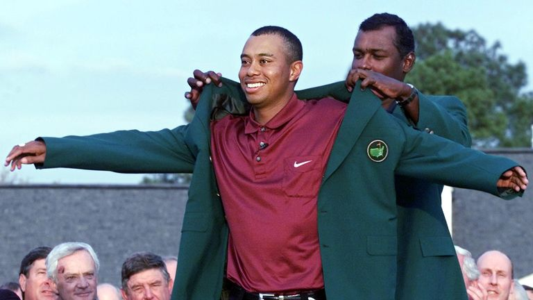 Tiger Woods  has won the green jacket four times in his career