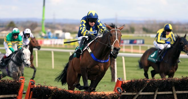 Party Rock clears the last in the Alder Hey Children's Charity Handicap Hurdle