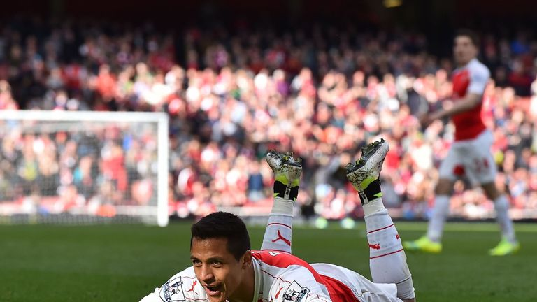 Alexis Sanchez had given Arsenal the lead with a header in first-half stoppage time