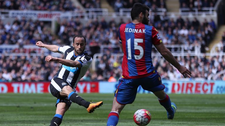 Andros Townsend joined Newcastle from Tottenham in January