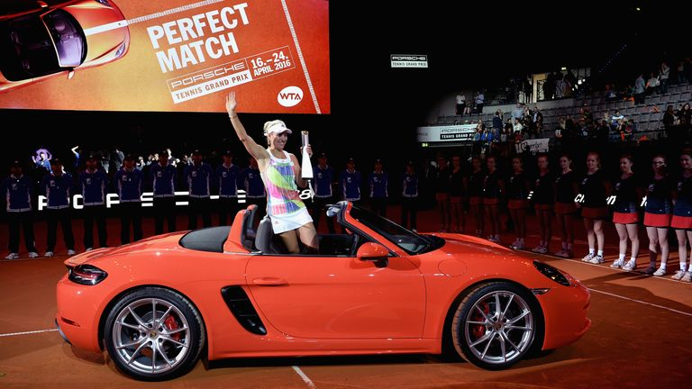 And the prize for winning the Porsche Grand Prix is ....