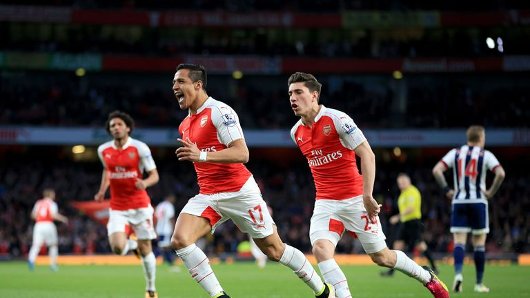 Alexis Sanchez scored both goals in Arsenal 2-0 victory over West Brom