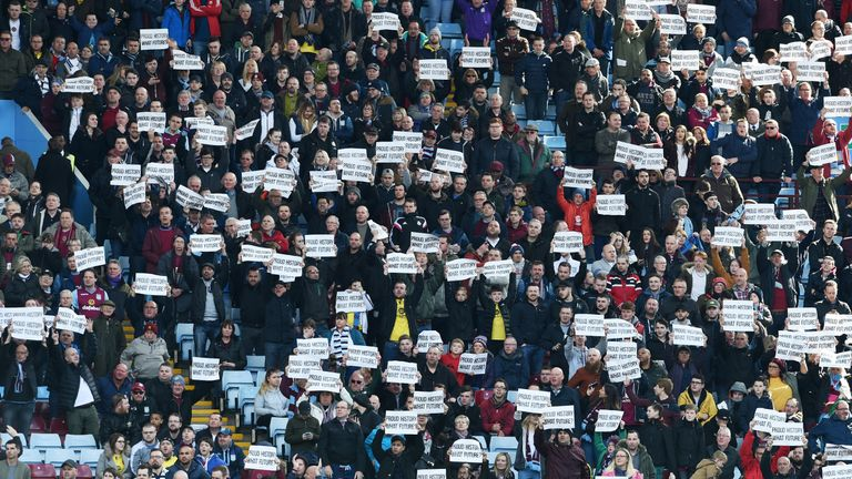 Villa supporters had previously protested about the running of the club