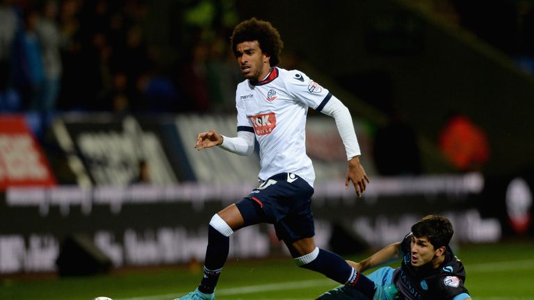Derik has made 18 Championship appearances for Bolton this season