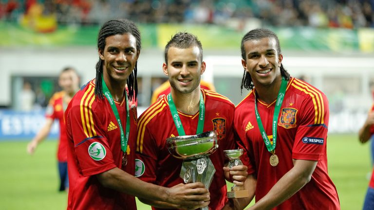 Osede (right) featured prominently for Spain as they won the European U19 Championship in 2012