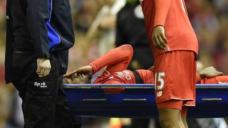 Origi was carried off at Anfield on Wednesday
