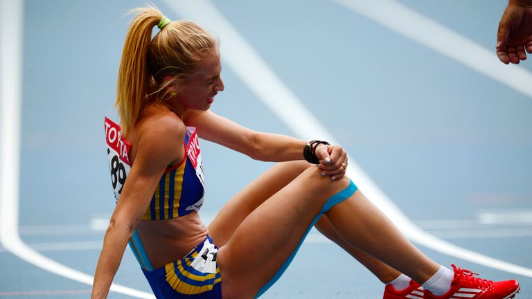 Romania's Elena Mirela Lavric failed the test at the world indoor championships in Portland