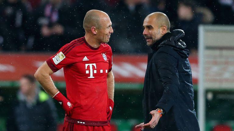 Arjen Robben struggled with injuries under Guardiola at Bayern Munich