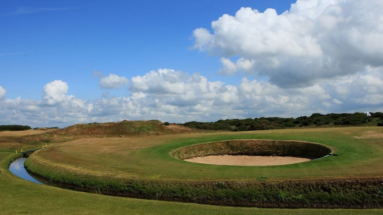 A general view of the 9th green at Dundonald Links back in 2009