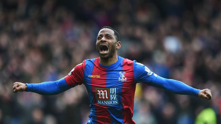Jason Puncheon celebrates after scoring for Crystal Palace