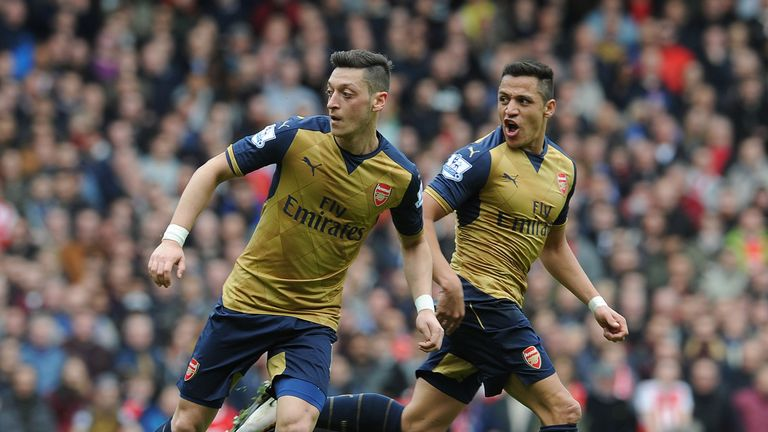 Mesut Ozil and Alexis Sanchez have two years remaining on their contracts