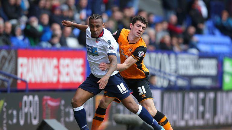 Neil Danns (l): Has joined Blackpool on loan