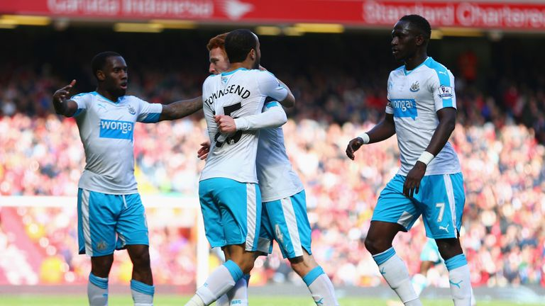 Jack Colback is congratulated after scoring Newcastle's equaliser