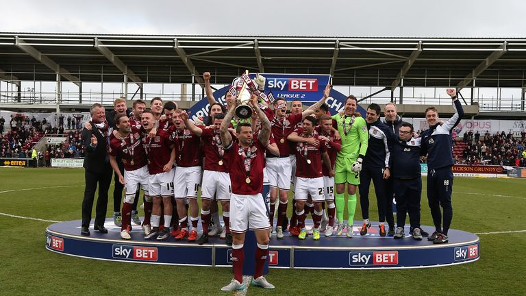 Northampton Town stormed to the Sky Bet League Two title last season