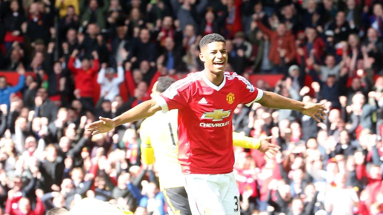 Marcus Rashford's goal gave Manchester United victory over Aston Villa
