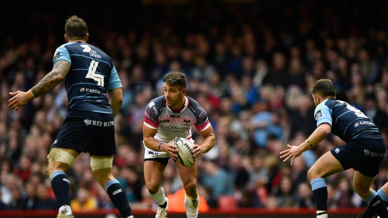 Rhys Webb darted over from close range against Cardiff
