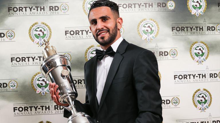 Riyad Mahrez won the PFA Player of the Year award