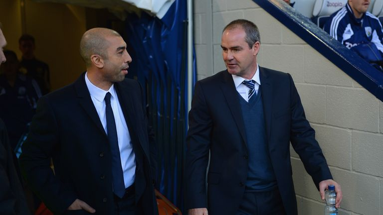Steve Clarke (right) has followed Roberto Di Matteo out of the exit door at Villa Park
