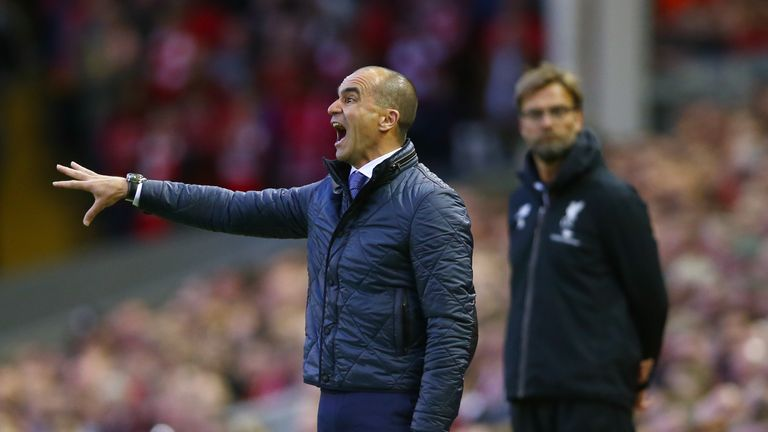 Roberto Martinez saw his Everton side lose 4-0 to rivals Liverpool on Wednesday