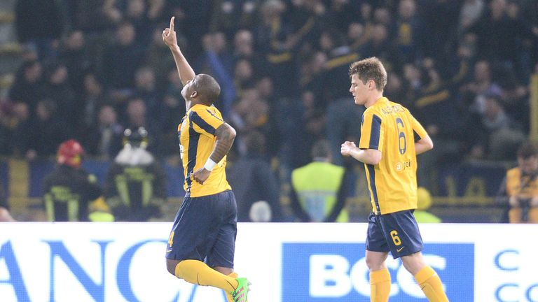 Samir scored the only goal of the game as Hellas Verona beat Bologna