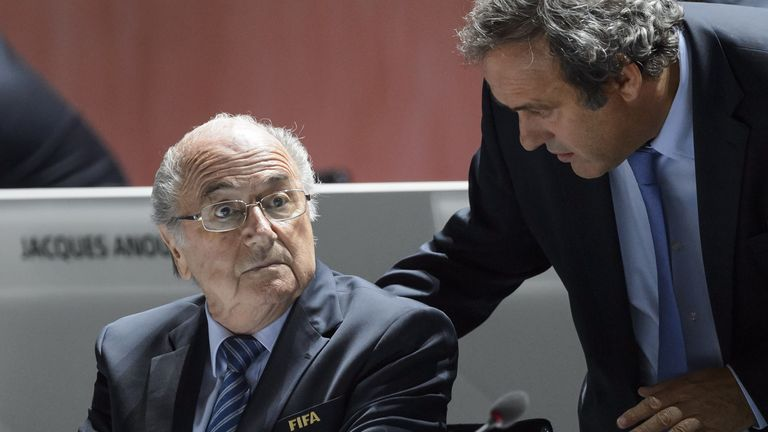Sepp Blatter and Michel Platini were punished in December 2015 over a £1.3m 'disloyal payment'
