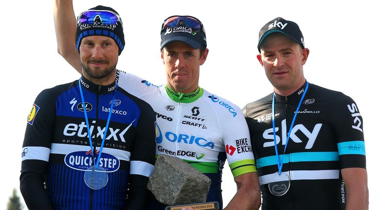 Ian Stannard (right) finished third at this year's Paris-Roubaix