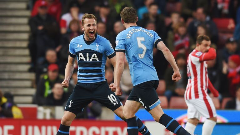 Kane opened the scoring for Tottenham in the ninth minute