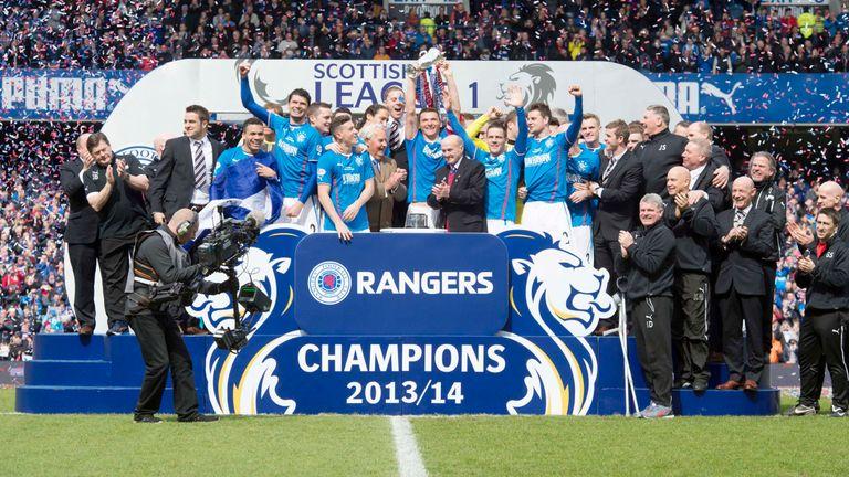 Rangers were unbeaten in the league in 2013/14, winning 102 points