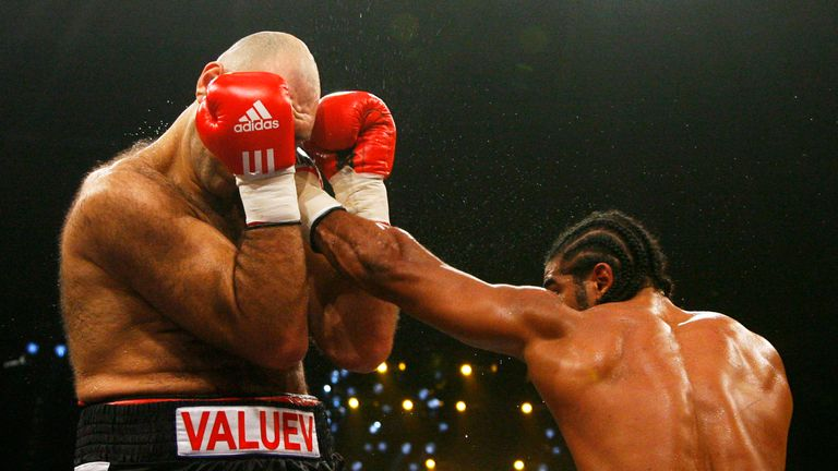 David Haye (right) won a world title from Nikolai Valuev
