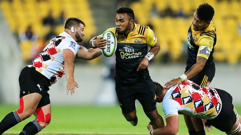 Willis Halaholo of the Hurricanes in action against the Kings