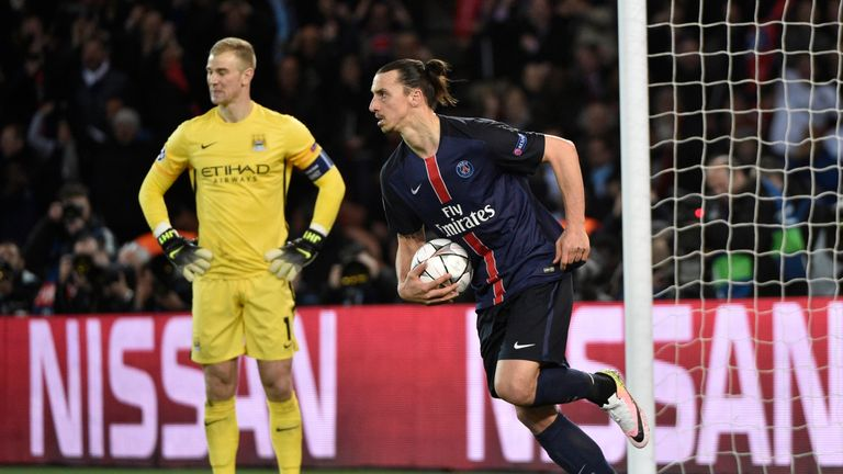 Ibrahimovic was on target for PSG against Man City