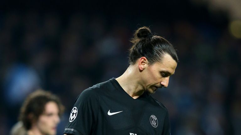 Ibrahimovic is a free agent when his contract at PSG expires next month