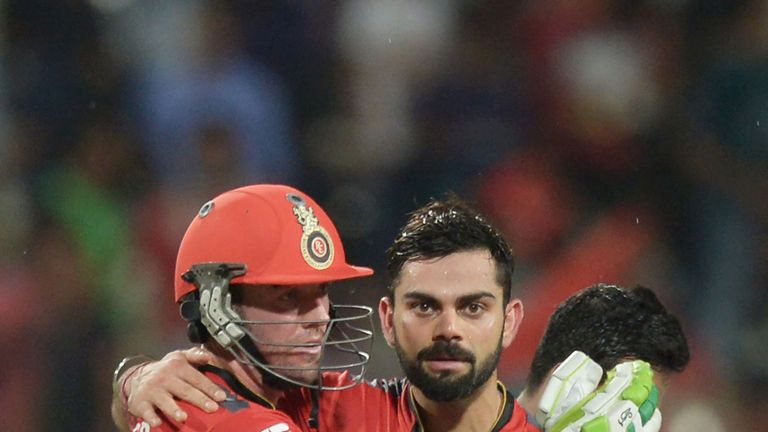 Kohli and De Villiers opened the batting for RCB in the reduced game (Credit: AFP)