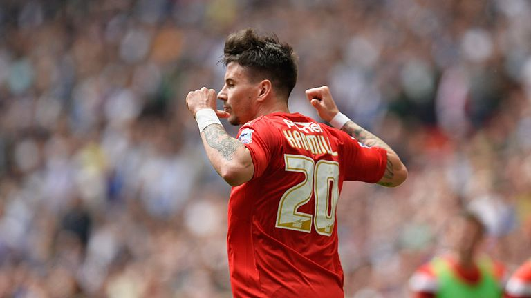 Adam Hammill scored his side's second goal in their 4-0 win over Wolves