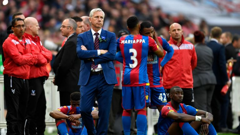 Alan Pardew took Crystal Palace to the FA Cup final