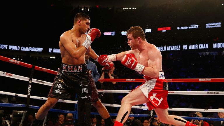 Khan was knocked out by Saul Alvarez in the sixth round of their fight in Las Vegas