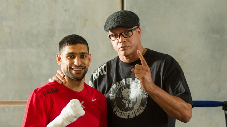 Virgil Hunter will be in Khan's corner when he faces Alvarez