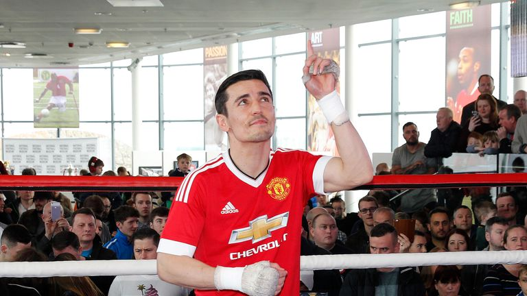 Crolla regularly attends Old Trafford to watch Manchester United