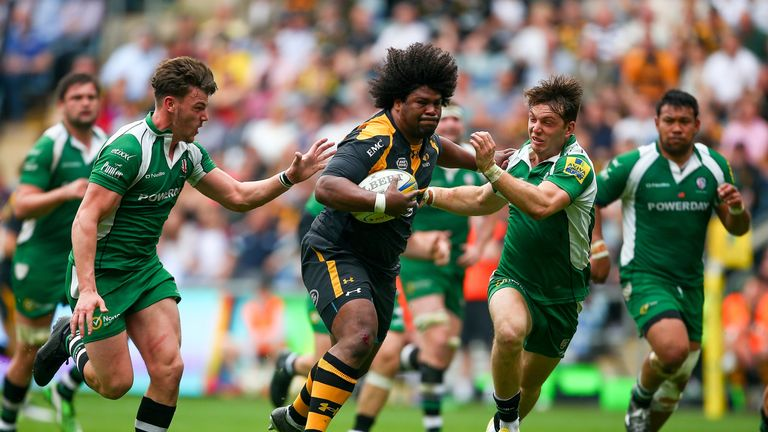 Ashley Johnson on the charge for Wasps