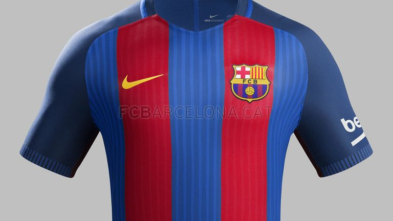 The Catalan club will be wearing a new Nike kit that features the club's classic broad vertical red and blue stripes