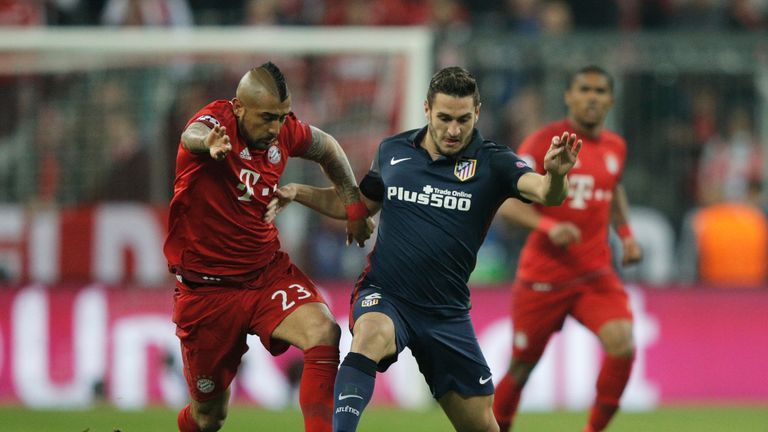 Atletico Madrid midfielder Koke (middle) insists he wants to stay with  the club