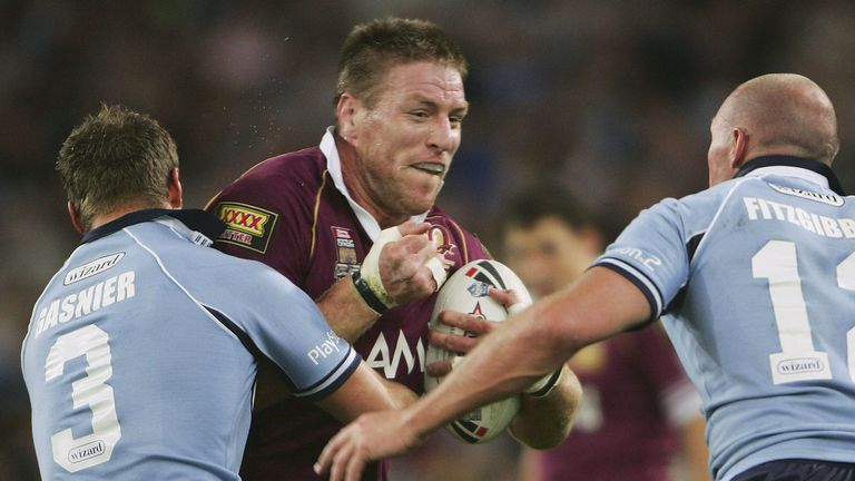 Brad Thorn during the State of Origin in 2005