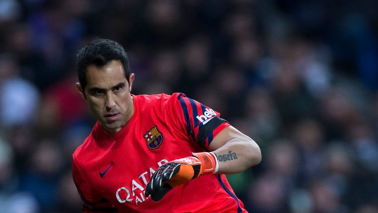 Barcelona goalkeeper Claudio Bravo has been linked with a move to Man City