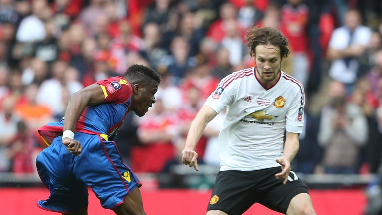 Daley Blind sustained a calf injury during Manchester United's FA Cup win over Crystal Palace