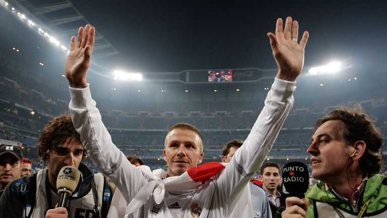 David Beckham won his only La Liga title in 2007